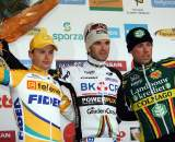Albert, Pauwels, and Nys on the podium in Overijse. ? Bart Hazen