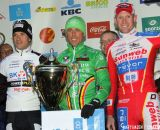 The Podium: Sven Nys, Niels Albert, Klaas Vantornout  © Bart Hazen
