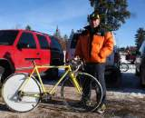 Paul Curley and his Tom Stevens cyclocross bike in Bend in 2009. Not much has changed since. © Cyclocross Magazine