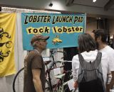 Paul Sadoff of Rock Lobster shows off a bit of history at NAHBS 2012. ©Cyclocross Magazine