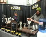 Pedro's brought Angry Catfish Bicycle and Coffee bar to brew coffee by the cup. © Cyclocross Magazine