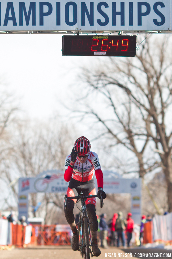 Gage Hect (Team Specialized Racing) chased for second.  ©Brian Nelson