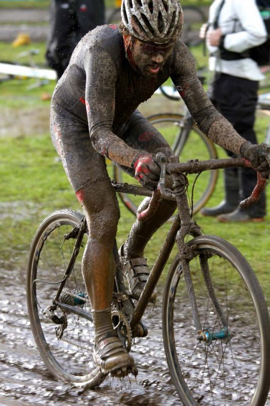 CXM's Josh Liberles always finds the most mud ©Matt Haughey