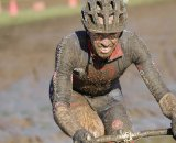 Shannon Skerritt (Corsa Concepts) looks at home in the mud ©Matt Haughey
