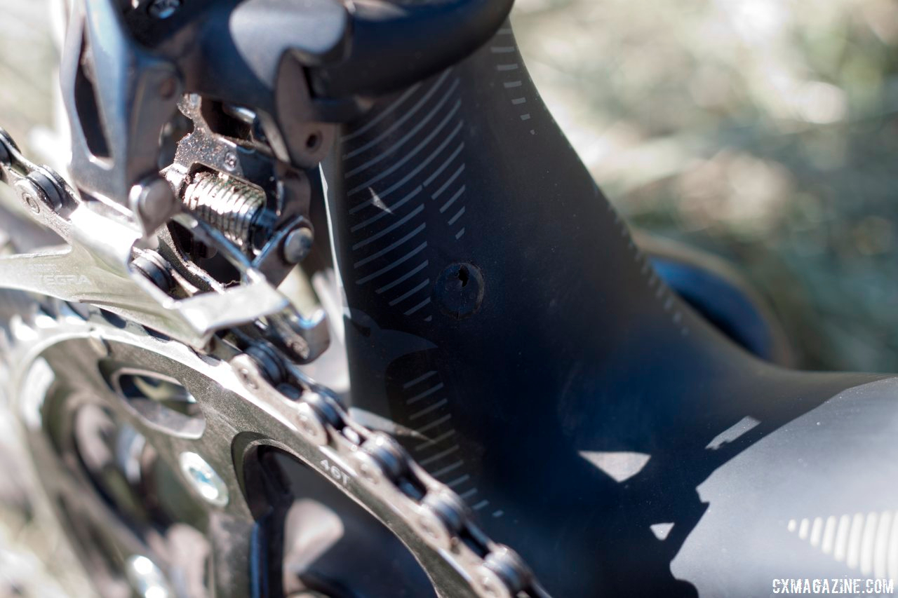 Shimano's Ultegra FD-6700 Front Derailleur takes care of shifting up front. © Cyclocross Magazine