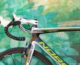 FSA Pro Wing Compact White handlebars with a FSA OS115 White stem. © Joe Sales