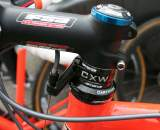 Wyman's crowded cockpit has representative from five brands. ? Cyclocross Magazine