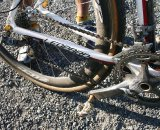 Parbo uses a complete SRAM Force drivetrain. © Cyclocross Magazine