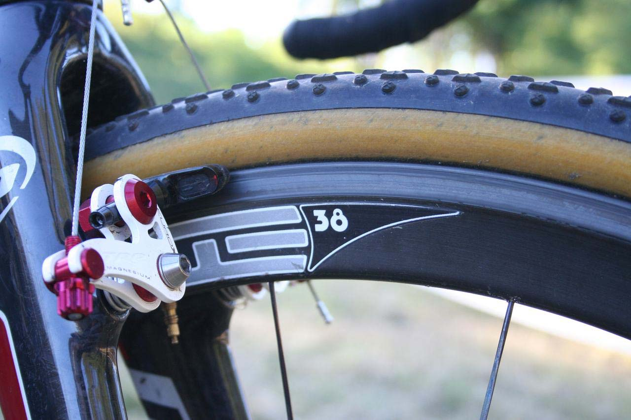 Page wraps the Edge Composites wheels with Challenge Grifos. © Cyclocross Magazine