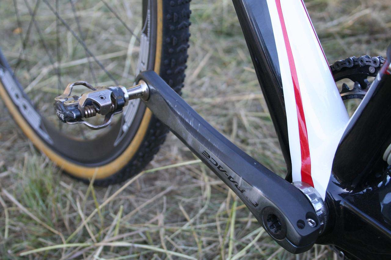 Dura Ace meets XTR on Page\'s Norcross. © Cyclocross Magazine