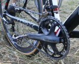 Page runs double chainrings on the Dura Ace cranks. © Cyclocross Magazine