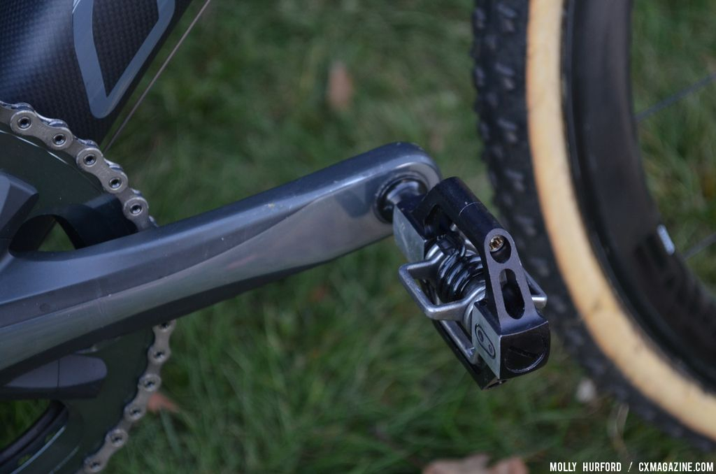 Eggbeater Candy pedals on the Keough Cyclocross team bikes. © Cyclocross Magazine