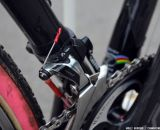 SRAM RED 22 derailleur on Mo Bruno Roy's Seven Cycles Mudhoney Pro bike. © Cyclocross Magazine