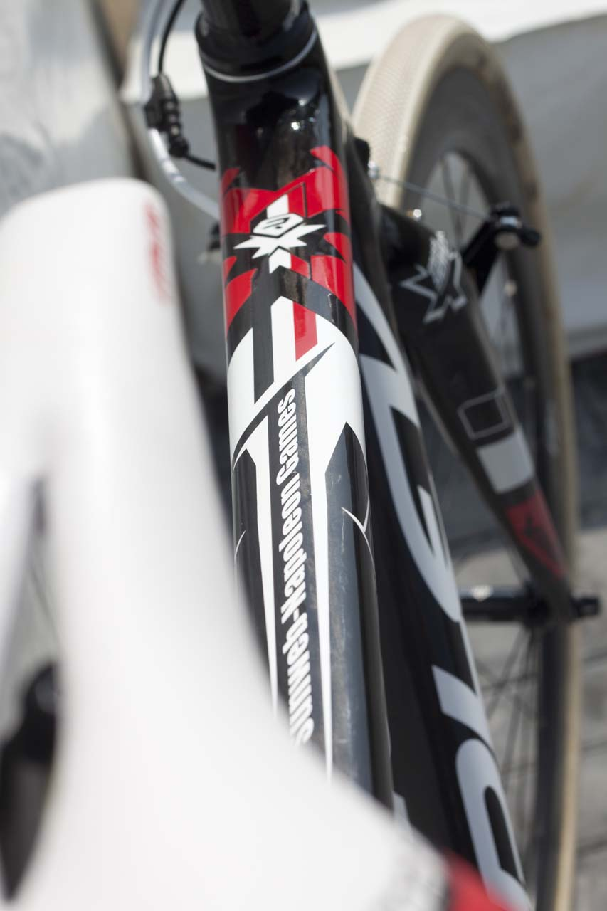 The team\'s name also appears integrated into the graphics of the top tube. © Cyclocross Magazine