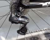 A Dura Ace Di2 rear derailleur is mounted in back as well. © Cyclocross Magazine