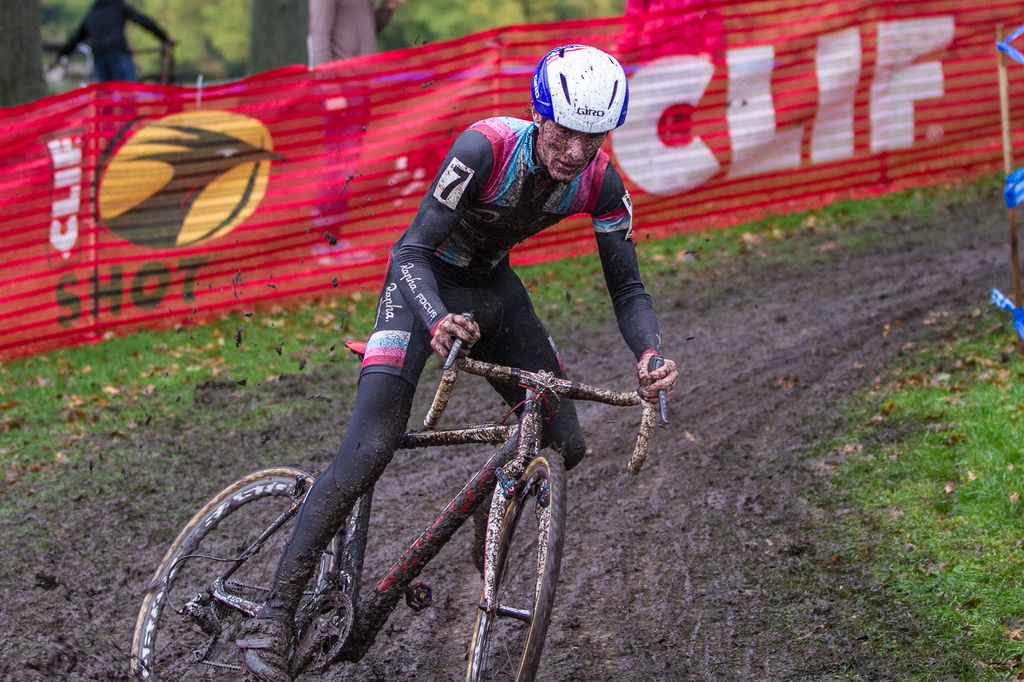 McDonald battled the mud for his win today. © Todd Prekaski