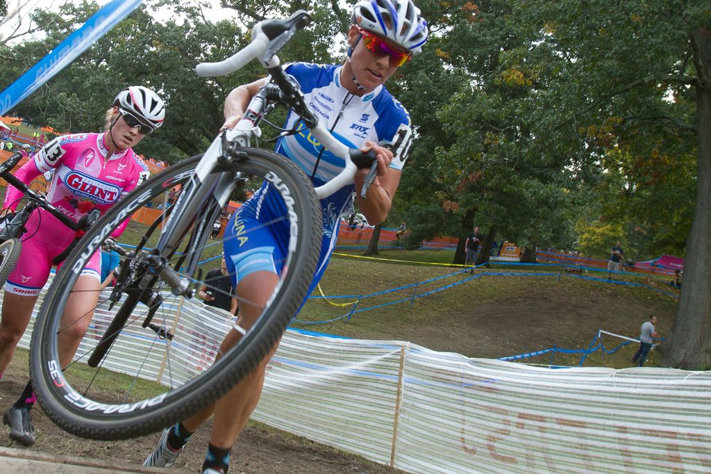 Nash leads over the barriers at Providence Day 1 2013. © Todd Prekaski