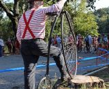 A penny-farthing spectator looks on. © Cyclocross Magazine