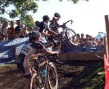 Riders tackle the barriers. © Cyclocross Magazine