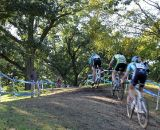 A small pack of men blast up the hill. © Cyclocross Magazine