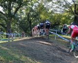 The field is strung out of the hill. © Cyclocross Magazine