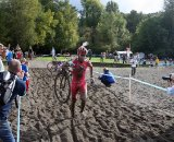 The sand proved tricky for even the top riders. Photo by Robbie Carver