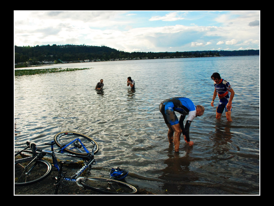 Nearby water provided ways to cleanse body and bike. © Suzann Marie