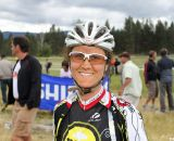 Jenni Gaertner from Idaho finished fifth and was all smiles after realizing she likely won the Raleigh bikes and travel money. © Cyclocross Magazine