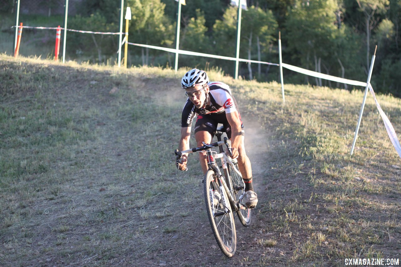 Justin Lindine overcame a mechanical and crash to finish fifth. © Cyclocross Magazine