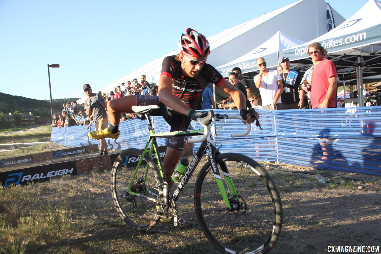 Driscoll flew the Jamis road jersey, but used his last year\'s Cannondales. © Cyclocross Magazine