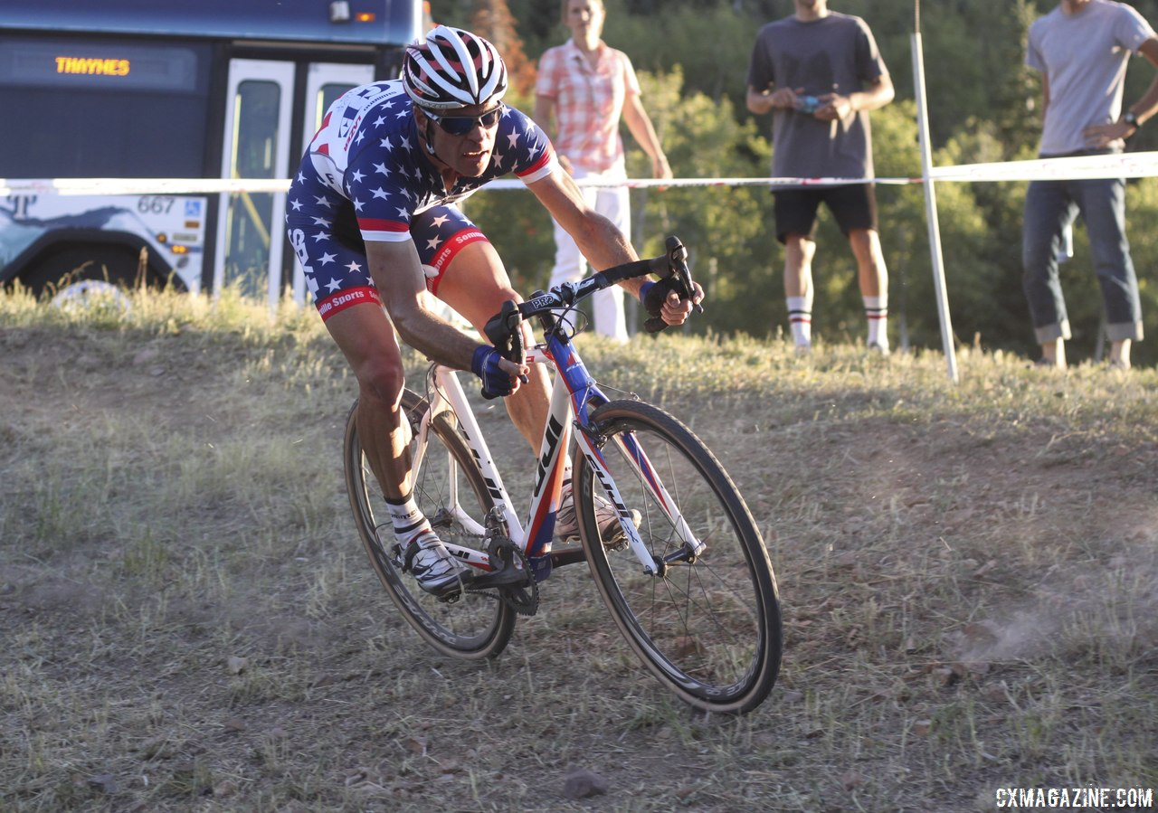 Page impressed fans and even decker with his skinny-tire descending skills © Cyclocross Magazine