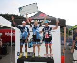 Elite Men's Podium - Berden, Decker and Page. 2013 Raleigh Midsummer Night's race. © Cyclocross Magazine