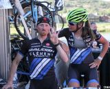 Craig Etheridge and Caroline Mani pose for the cameras at Raleigh Midsummer Nights Cross. © Cyclocross Magazine