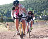 Amanda Carey leads Caroline Mani in Raleigh Midsummer Night's Cross. © Cyclocross Magazine