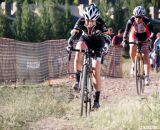 Charging to stay away from Kathy Sherwin at Raleigh Midsummer Night's Cross. © Cyclocross Magazine