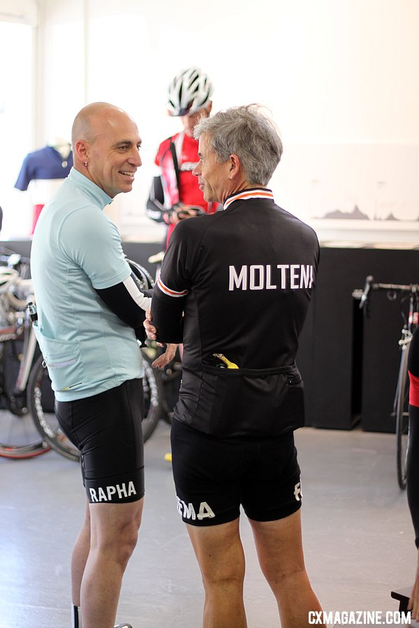 Retro and wool-clad customers are common at the  Rapha Cycle Club. © Cyclocross Magazine
