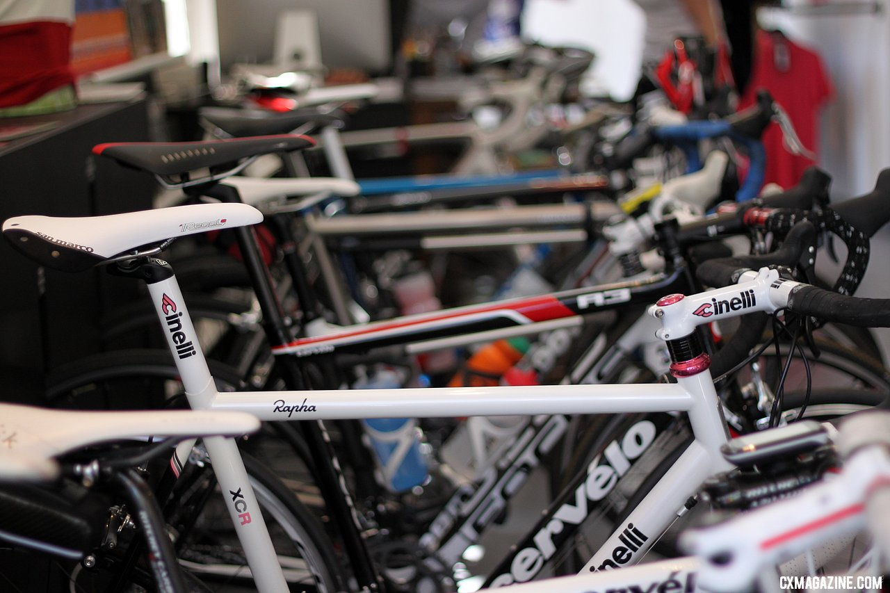 Jeremy Dunn\'s Rapha-branded Cinelli awaits the Powers & Jones ride. © Cyclocross Magazine