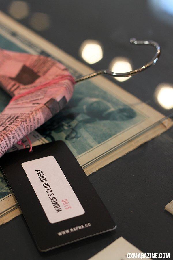 Rapha hangers offer Italian newspaper styling. © Cyclocross Magazine