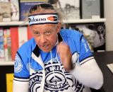 Vermarc's Brian Worthy gets animated talking cyclocross with CXM. © Cyclocross Magazine
