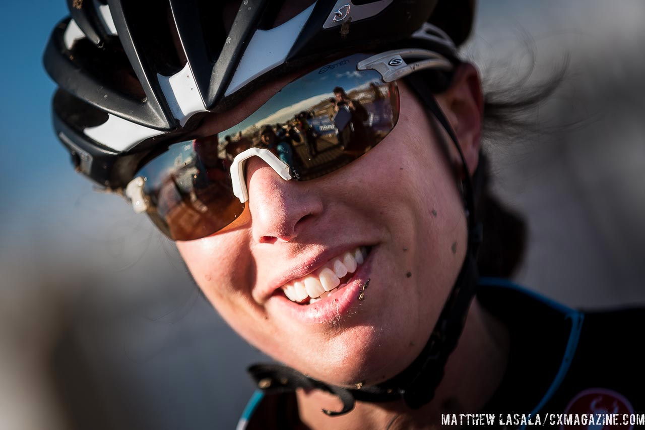 Rebecca Gross post-race in the women\'s 30-34 race at USA Cycling National Championships of Cyclocross. © Matt Lasala