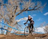 Rebecca Blatt in the women's 30-34 race at USA Cycling National Championships of Cyclocross. © Matt Lasala