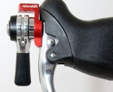 The left lever on the Retroshift brake lever shifters. © Cyclocross Magazine