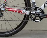 The new 2012 Ridley X-Fire features Pressfit 30 (PF30) bottom bracket with a BB30 FSA SLK-Light carbon crankset.  © Cyclocross Magazine