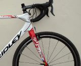 The new 2012 Ridley X-Fire PressFit 30 cyclocross bike has a tapered 1.5 inch steerer and a chatter-resistant fork. © Cyclocross Magazine