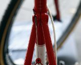 The rear brake cable has the classic Ritchey minimalistic cable guide. © Tim Westmore / Cyclocross Magazine