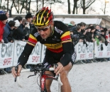 Boonen powers through the sand. ? Bart Hazen