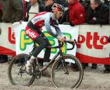Jelle Vanendert making his way through the sand in Mol. ? Bart Hazen