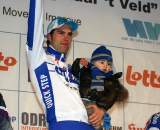 Wynants shares the podium with his son. ? Bart Hazen