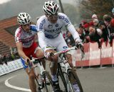 Stybar leads Pauwels on the finishing straight