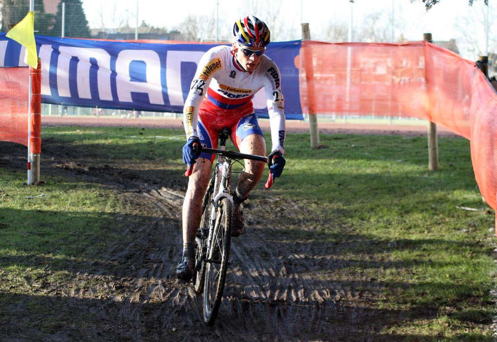 Zdenek Stybar was the strongest rider in Roubaix and now leads the World Cup. ? Bart Hazen